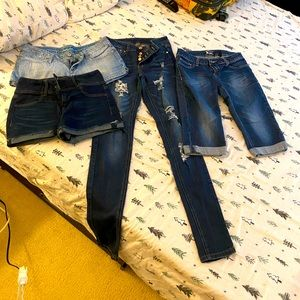 Jeans lot - skinny/shorts/capri size 5-7 junior